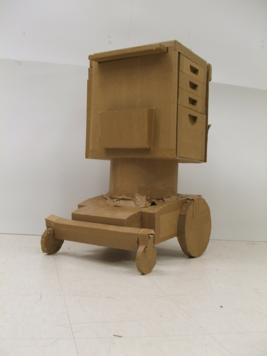 This is an early concept that did not make it. The intent was to make the mobile nightstand mountable to a standard scooter base.