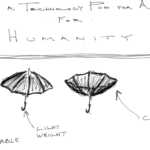 Initial conceptual thoughts on making a portable, light weight, design that can also catch water. AND playing on my favored themes of simplicity, parsimony, and commonality.